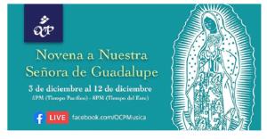 Novena Digital a Nuestra Señora de Guadalupe (3 al 12 de diciembre) @ en línea via Facebook